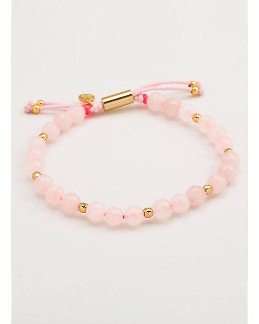 Gorjana & Griffin | Metallic Power Gemstone Rose Quartz Beaded Bracelet For Love | Lyst