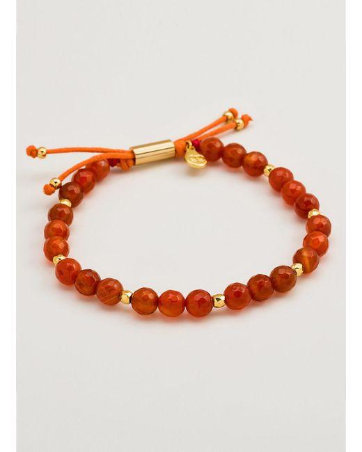 Gorjana & Griffin   Metallic Power Gemstone Orange Agate Beaded Bracelet For Confidence   Lyst