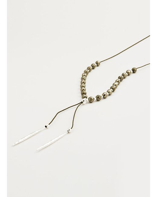 Gorjana & Griffin | Metallic Power Gemstone Pyrite Beaded Necklace For Strength | Lyst