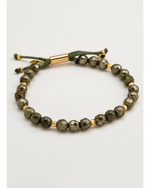 Gorjana & Griffin | Metallic Power Gemstone Pyrite Beaded Bracelet For Strength | Lyst