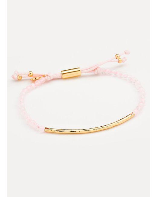 Gorjana & Griffin - Metallic Power Gemstone Rose Quartz Bracelet For Love - Lyst