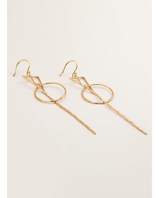 Gorjana Interlocking Triangle Drop Earrings wr0jglg3p