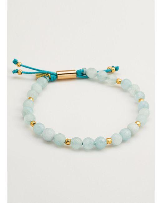 Gorjana & Griffin   Metallic Power Gemstone Aquamarine Beaded Bracelet For Truth   Lyst
