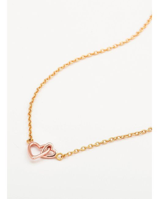 Gorjana & Griffin - Metallic Mini + Me Interlocking Hearts Child Necklace - Lyst