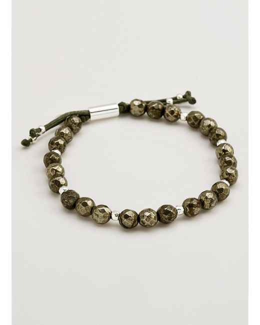 Gorjana & Griffin | Metallic Power Gemstone Pyrite Beaded Bracelet For Strength | Lyst