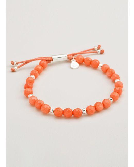 Gorjana & Griffin | Metallic Power Gemstone Pink Coral Beaded Bracelet For Harmony | Lyst