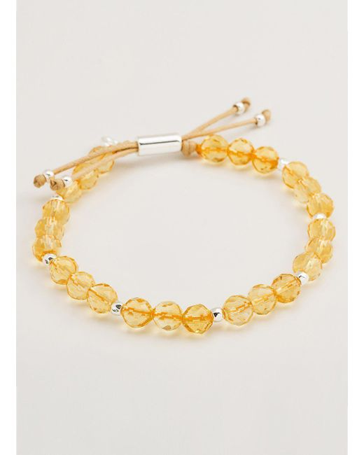Gorjana & Griffin - Metallic Power Gemstone Citrine Beaded Bracelet For Abundance - Lyst