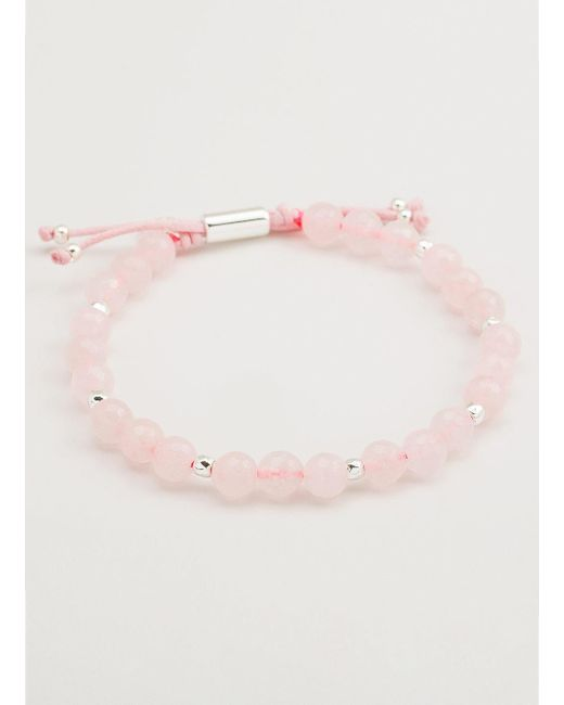 Gorjana & Griffin - Metallic Power Gemstone Rose Quartz Beaded Bracelet For Love - Lyst