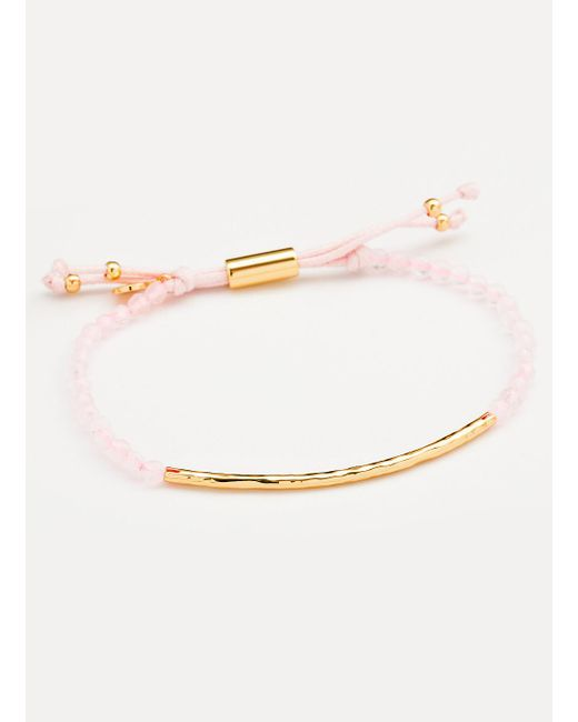 Gorjana & Griffin | Metallic Power Gemstone Rose Quartz Bracelet For Love | Lyst