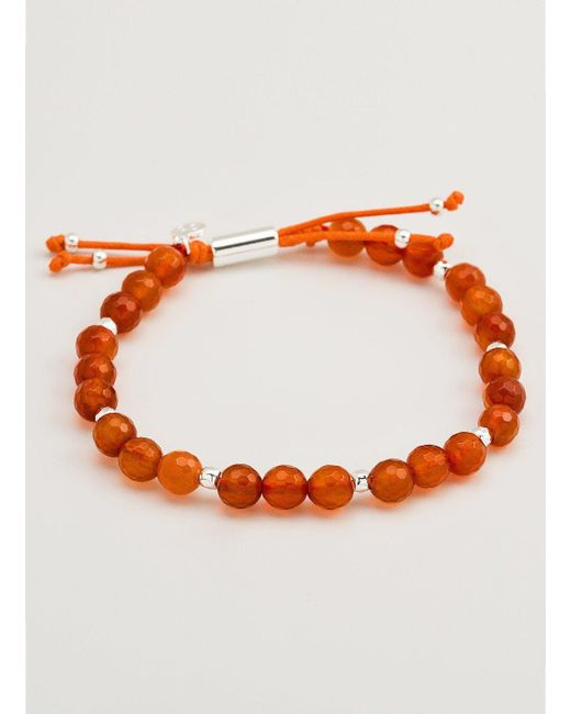Gorjana & Griffin - Metallic Power Gemstone Orange Agate Beaded Bracelet For Confidence - Lyst