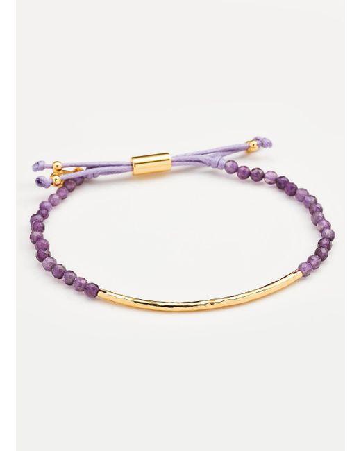 Gorjana & Griffin - Metallic Power Gemstone Amethyst Bracelet For Tranquility - Lyst