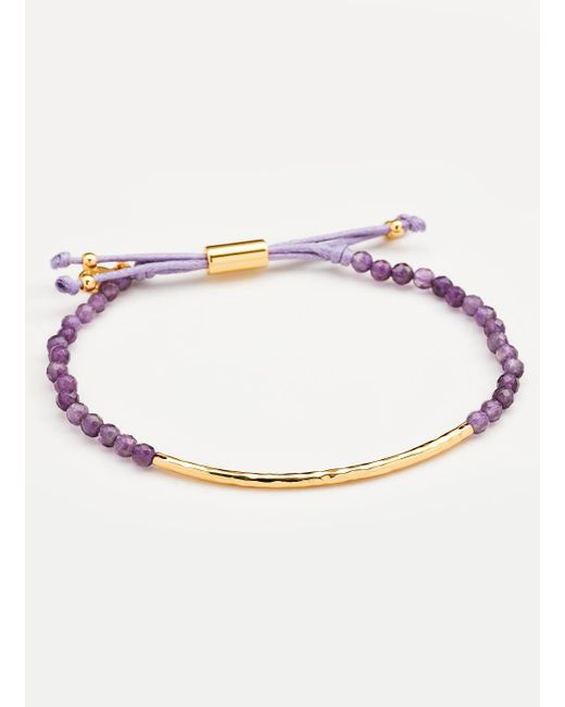 Gorjana & Griffin | Metallic Power Gemstone Amethyst Bracelet For Tranquility | Lyst