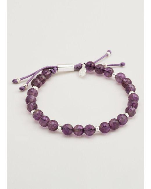 Gorjana & Griffin   Metallic Power Gemstone Amethyst Beaded Bracelet For Tranquility   Lyst