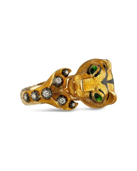Gucci - Yellow Le Marché Des Merveilles Ring - Lyst