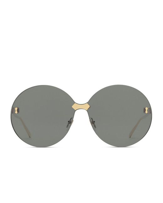 Lyst - Gucci Round-frame Rimless Sunglasses in Gray