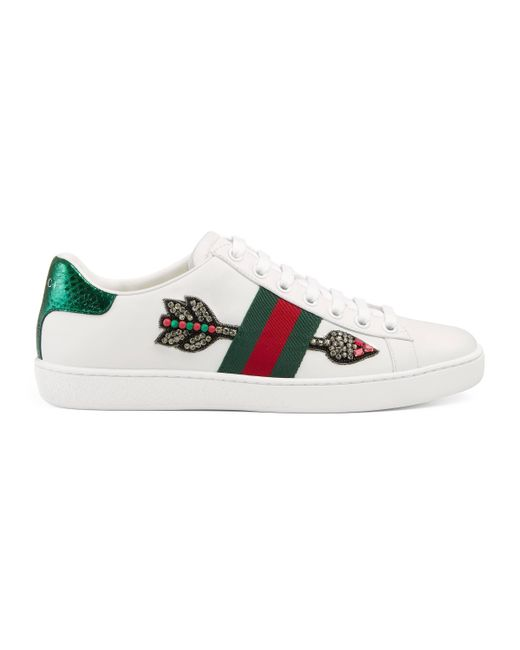f003d7f738c Gucci - White Ace Embroidered Low-top Sneaker - Lyst ...