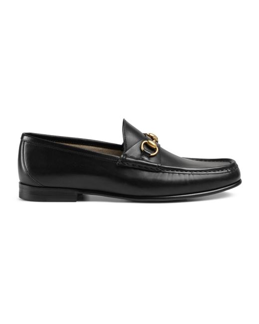 Gucci - Black 1953 Horsebit Leather Loafers for Men - Lyst