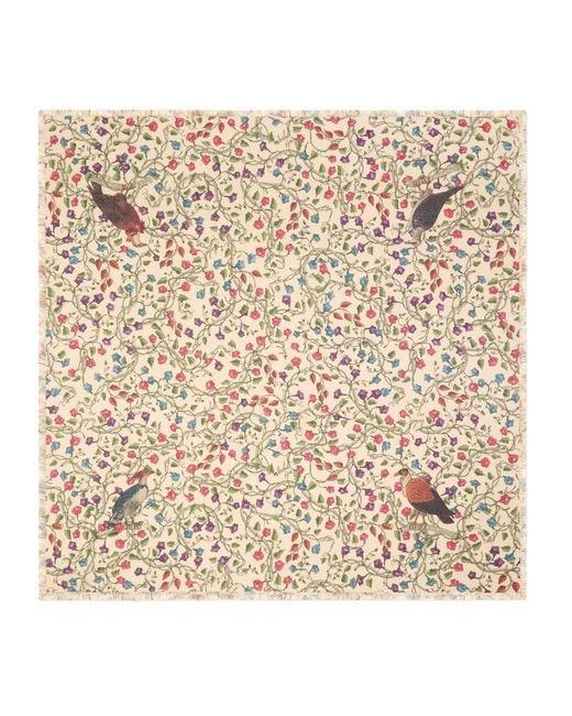 Gucci | Natural Birds Of Prey Modal Cotton Shawl | Lyst