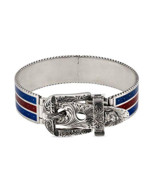 Gucci | Metallic Garden Bracelet In Silver for Men | Lyst