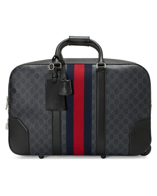 Gucci - Black Soft GG Supreme Carry-on Duffle With Wheels for Men - Lyst ... 11aac35bf1