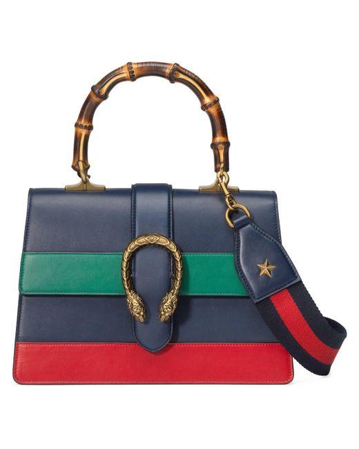 35eb1363a09c Gucci Dionysus Medium Top Handle Bag in Blue - Save 30% - Lyst