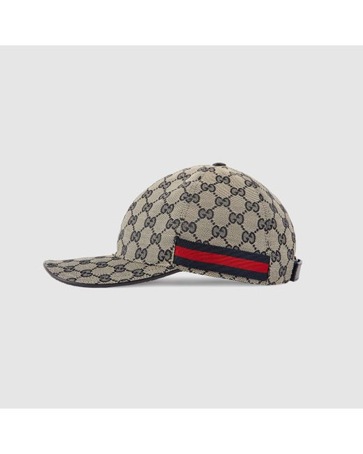 gucci gg canvas baseball hat in for lyst