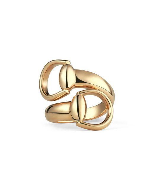 Gucci - Metallic Horsebit Ring In Yellow Gold - Lyst