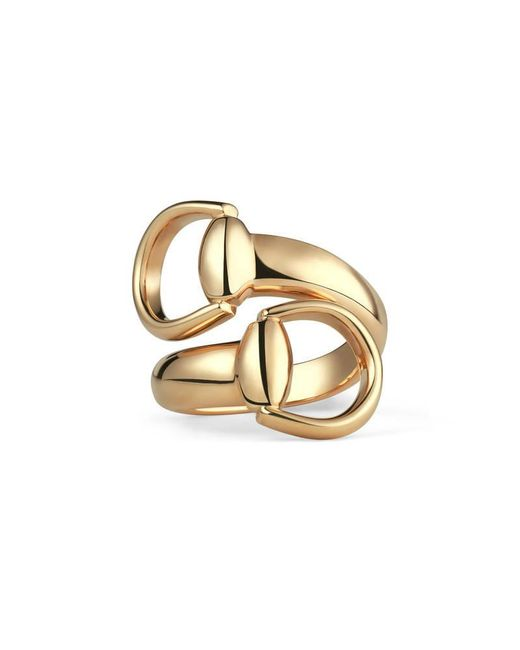 Gucci | Metallic Horsebit Ring In Yellow Gold | Lyst
