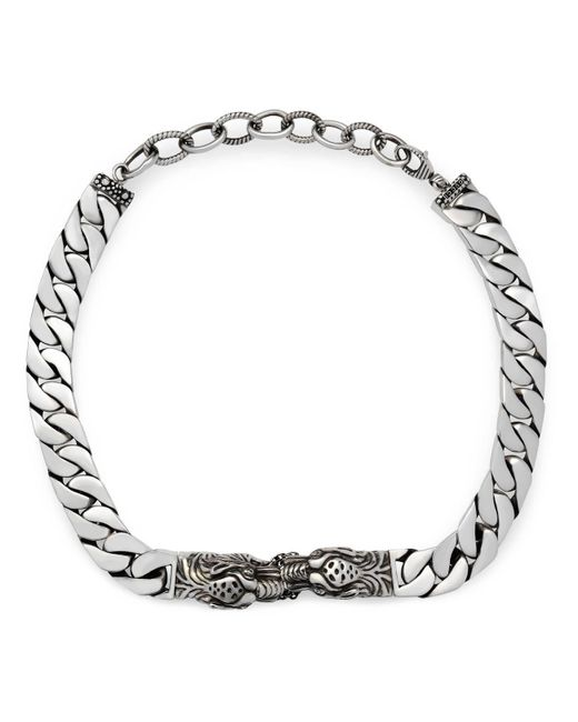 Gucci - Metallic Tiger Head Necklace for Men - Lyst