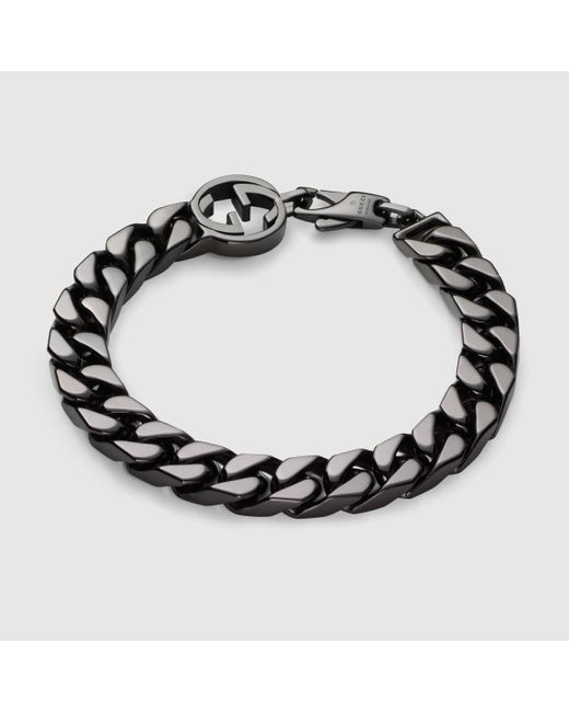 Gucci | Metallic Bracelet With Interlocking G for Men | Lyst