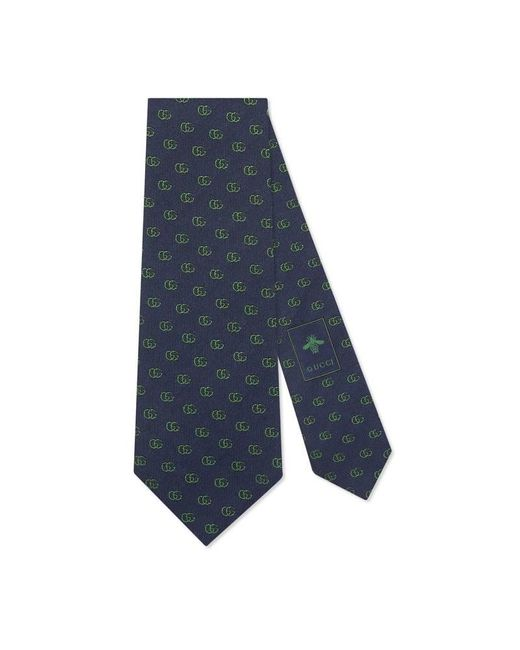 Gucci | Blue Double G Silk Tie for Men | Lyst