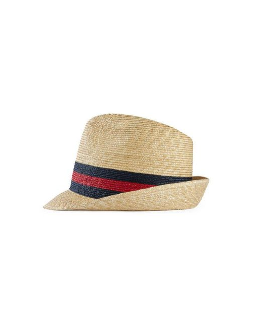 3290b0f1b7f6bb Gucci Fedora Hats For Men: Gucci Woven Straw Fedora In Natural For Men