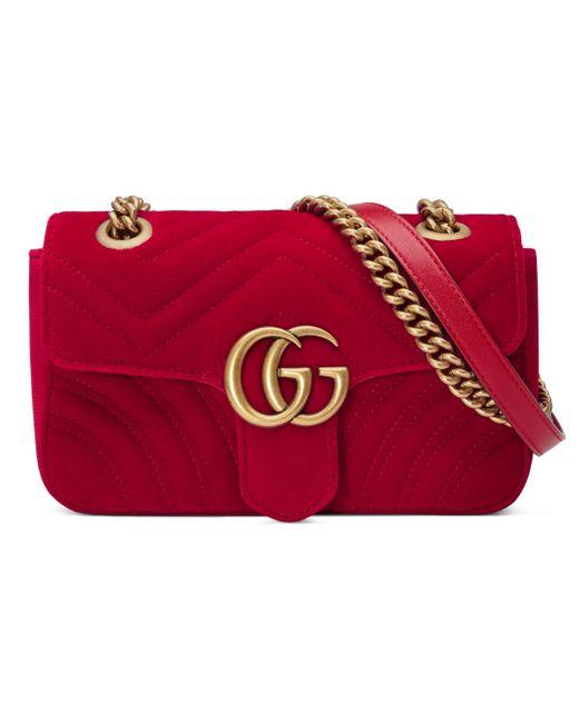 142f27f7e32a Gucci GG Marmont Mini Bag in Red - Save 16% - Lyst