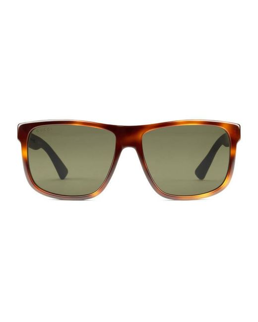 2e479286ae1 Gucci Men s Round 53mm Acetate Frame Sunglasses
