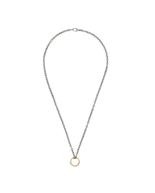 Gucci   Metallic Snake Ring Pendant Necklace In Gold   Lyst