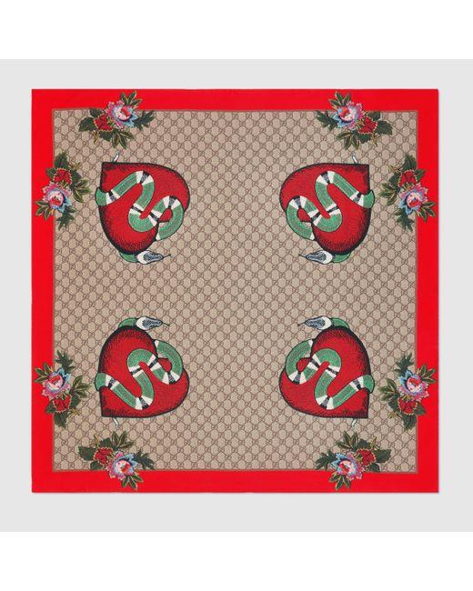 Gucci | Multicolor Limited Edition Silk Scarf | Lyst