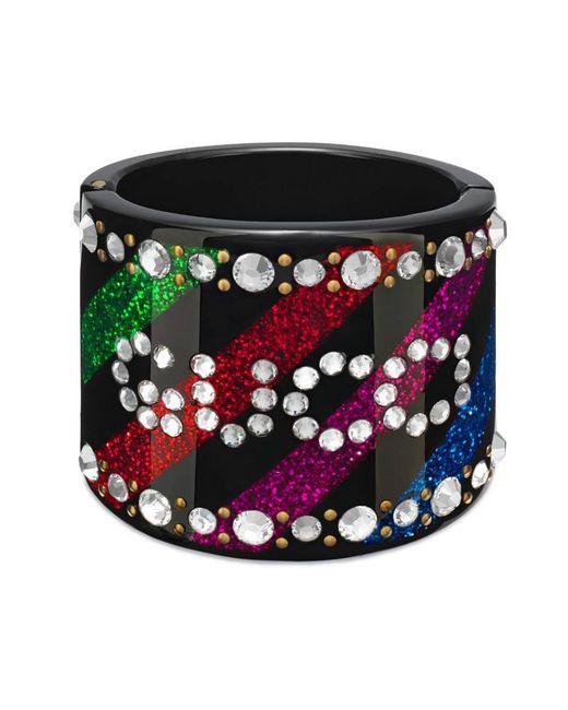 Gucci | Multicolor Crystal Cuff Bracelet | Lyst