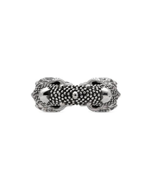 214b1c54f ... Gucci - Metallic Tiger Head Ring for Men - Lyst ...