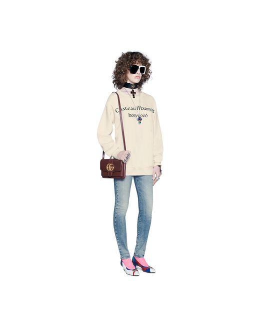 ... Gucci - Brown Arli Small Shoulder Bag - Lyst ... ef229edfcd83f