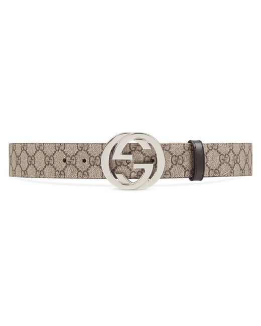 Gucci - Multicolor Gg Supreme Belt With G Buckle - Lyst