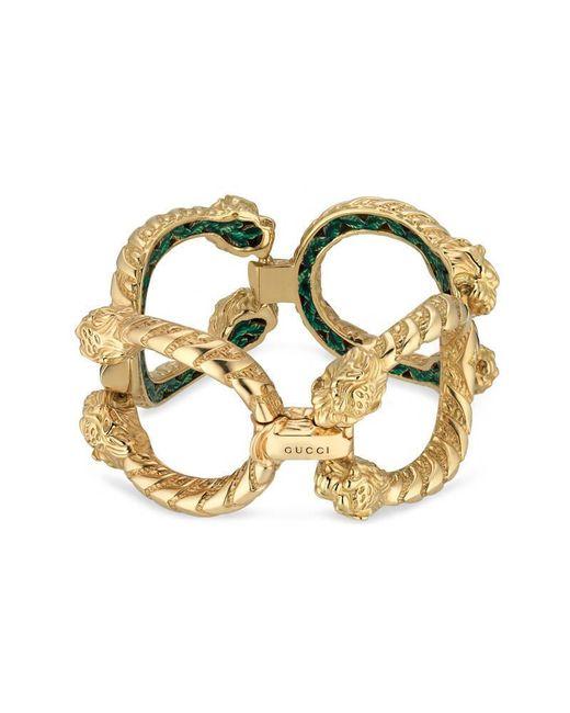 Gucci | Metallic Dionysus Bracelet In Yellow Gold | Lyst