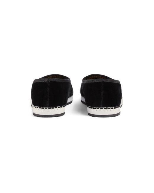 338c6e3c8 ... Lyst Gucci - Black Men's Velvet Loafer With Am Appliqué for Men ...