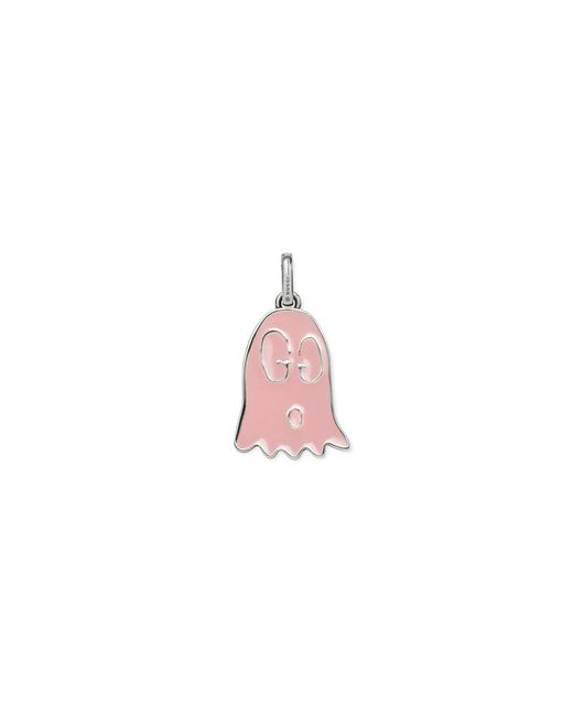 Gucci   Pink Ghost Charm In Silver   Lyst