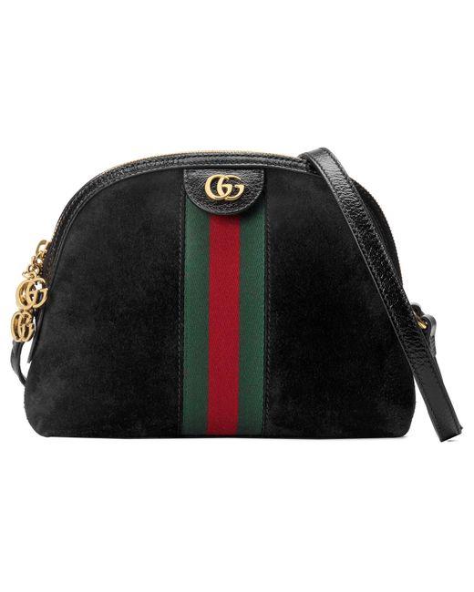 256d2926207f Gucci - Black Ophidia Small Shoulder Bag - Lyst ...