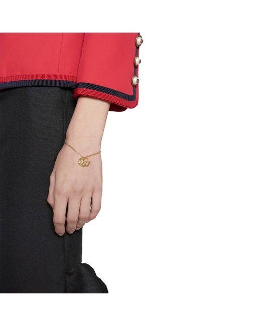 dd48754ff Gucci GG Running Yellow Gold Bracelet in Metallic - Save 12% - Lyst