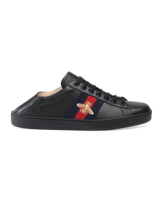 db95639bd Gucci - Black Ace Low-top Sneaker for Men - Lyst ...