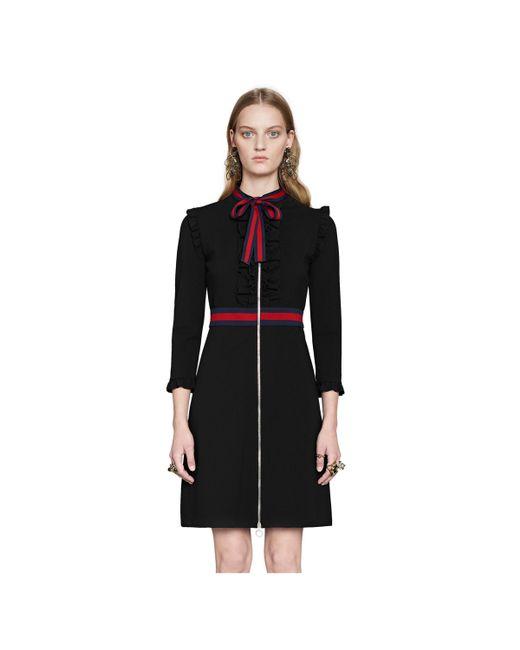 e77765cd5 ... Gucci - Black Viscose Jersey Dress - Lyst