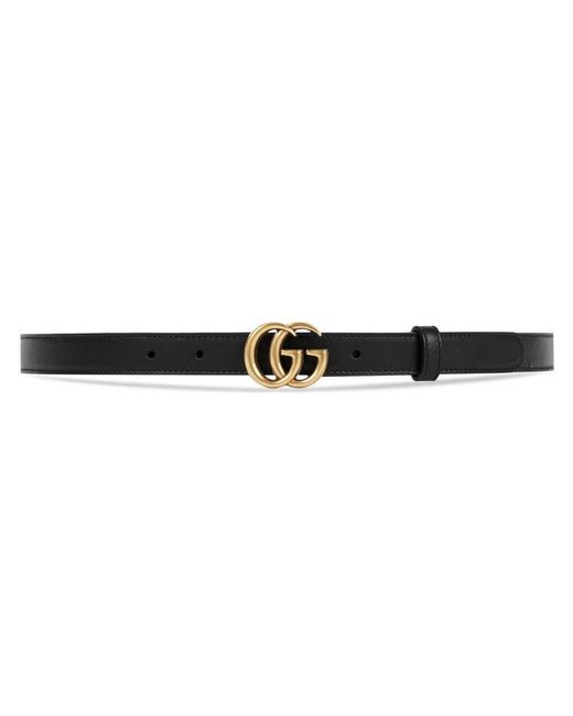 Gucci - Black Leather Belt With Double G Buckle for Men - Lyst