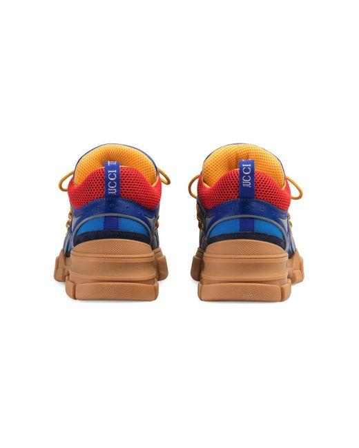 fa9f56fc365 ... Gucci - Blue Flashtrek Sneakers for Men - Lyst ...