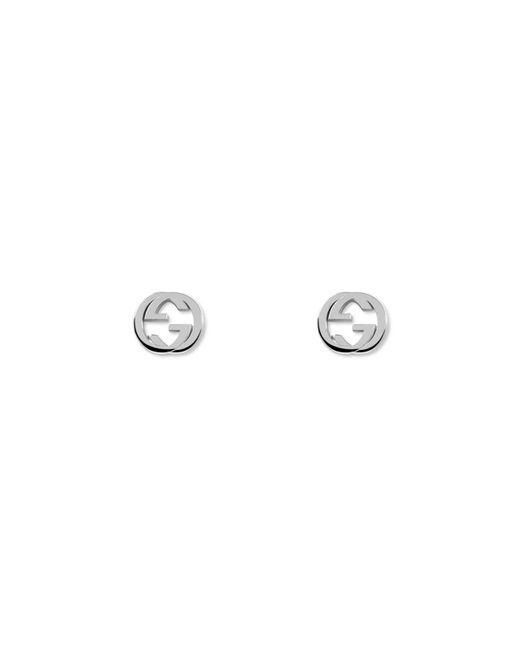 Gucci - Metallic Silver Interlocking G Earrings - Lyst